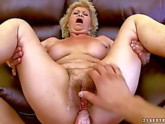 Hairy granny Effie gets fucked from your point of view