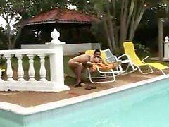 - i colombiani - Scoperto e la - Pisciare - alla - a bordo piscina