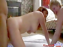 Interracial swingers threesome part 1