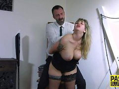Fetish sub in stockings