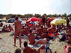 blowjob on nudist french beach