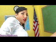 Busty School Girl Jelena Jensen Fucks Professor!