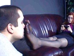 black pantyhose sniff 2