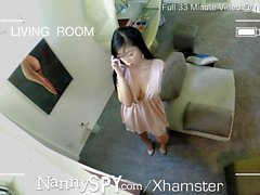NannySpy Asian babysitter Jade Kush caught giving massage