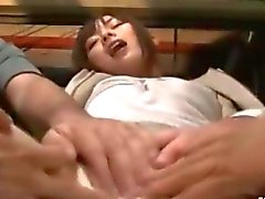 Office babe gets to be groped by the fellas