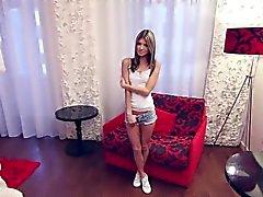 pequeña entrevista colada adolescente rusa flaco.