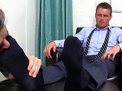 Muskel Homosexuell Fuß mit abspritzen