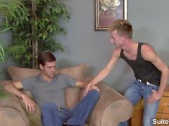 Graceful gay Ashten Parker gets ass licked and fucked by Chad Davis