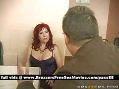 Mature redhead slut at a party