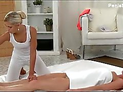 Massage Rooms Big boobs are oiled up and sque