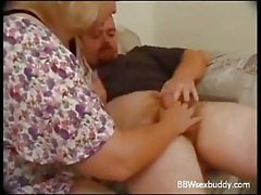 Mature BBW fucking on the couch