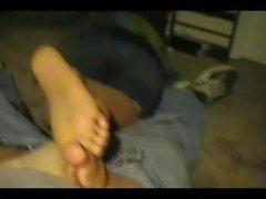footplay during movie