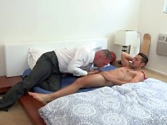 Old Bear Daddy Gets Young College Dick Surprise Fuck Som Bday Gift