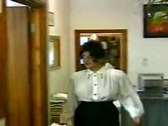 Flashing huge tits vintage milf