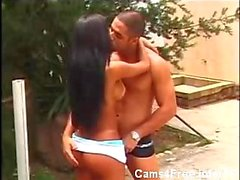 Amazing Brazilian tranny analed outdoor