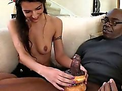 Petite French biatch Lou Charmelle pounded by big black cock