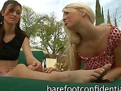 Von Karlie Montana Jana Jordanien Footplay Position