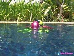 Ligt undervattensäventyr latex dykaren