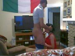 Hidden cam caught italian cheating wife fucks with stranger