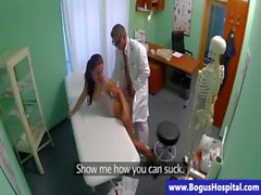 Doctor bangs his horny patient hard