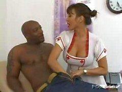 la enfermera caliente cuenta con de carne negro !!!!