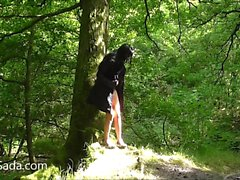 Babe nude in a wood near Leeds