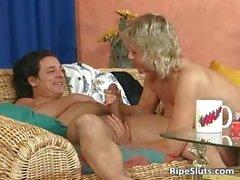 Sexy blonde mature teacher is hot as she part6