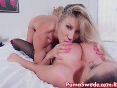Puma Swede Obtém início Xmas presente Ariella's Pussy!