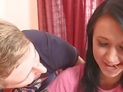 Bros gf gets her pussy licked and fucked