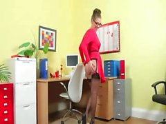 Incredibly hot secretary only strip
