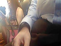 Flash asian on train
