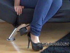 BANGF BOSS Pornocasting 18 jähriger Steffi mit