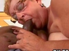fat granny is fucking the black dude so hard