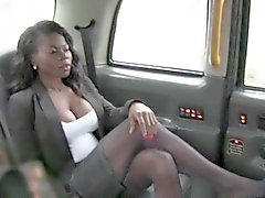 Interracial anal in fake taxi busty british