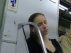 Deep decollete in Saint-Petersburg subway (NOT EROTIC)