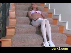 FetishNetwork Nicole leggy jerkoff babe