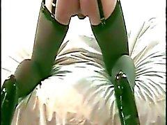 DVD 22 CD- Stacey trägt schwarze Taille Cincher und Cums