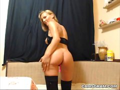 Hot Naughty Blonde Camwhore Live Sex Webcam Show