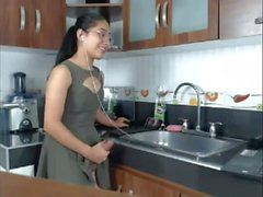 T-girl at the Kitchen