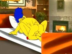 The Simpsons,marge gets banged by delivery boy and homer short but funny .