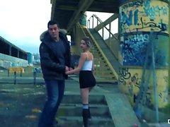 CHICAS LOCA - Wild ulkona julkinen seksi Espanjan Hottie Mey Madness