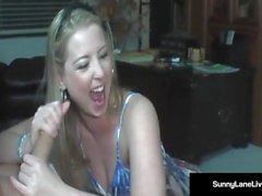 Ultimate Sports Blow Job! Sunny Lane & Vicky Vette Double BJ