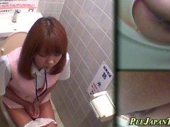 Asian teen filmed pissing