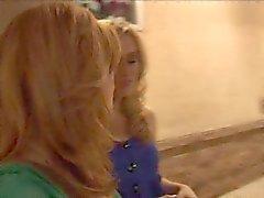 Two lesbian girls seducing a British girl.