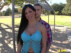Horny husband watches Jewels Jade slam another man