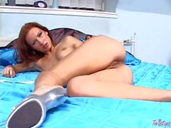Adorable and fit Susana Spears pleasures herself