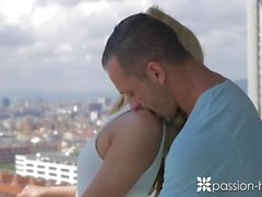 PASSION-HD Blonde Katrin Tequila massage and fucked in high rise condo