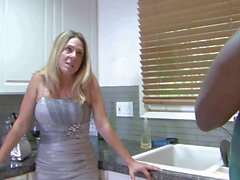 Two hungry blondes share black stud&039s tool in bed