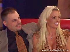 Sexy Blonde Swinger Wife Abused