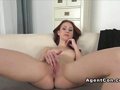 Russian redhead banged on casting